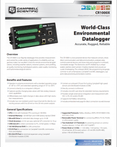 campbell scientific cr1000x measurement and control datalogger