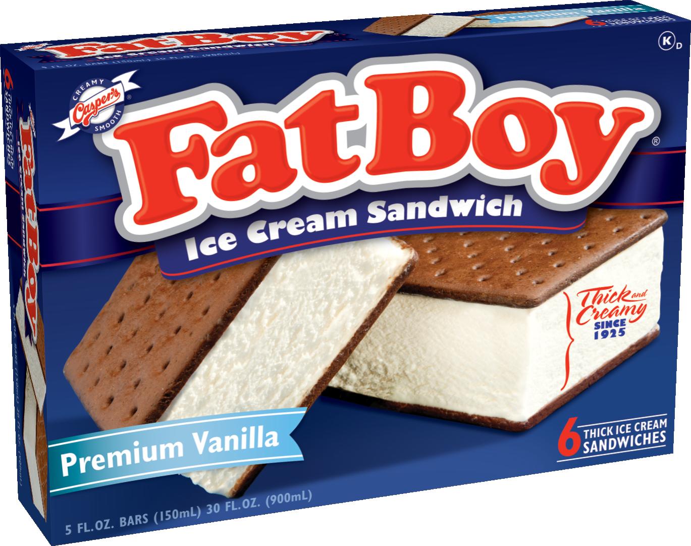 casper s ice cream fatboy vanilla sandwiches
