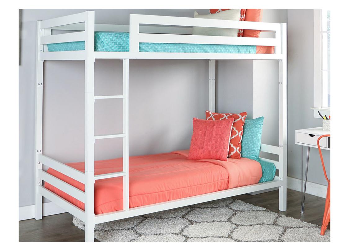 walker edison wood bunk beds