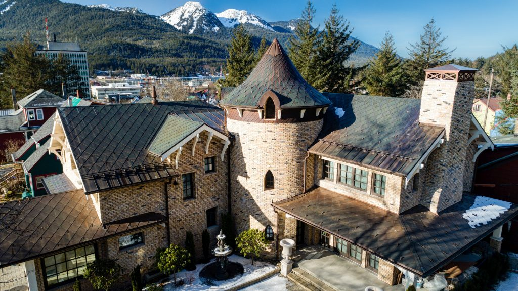fine metal roof tech international award winning roof in alaska made in utah