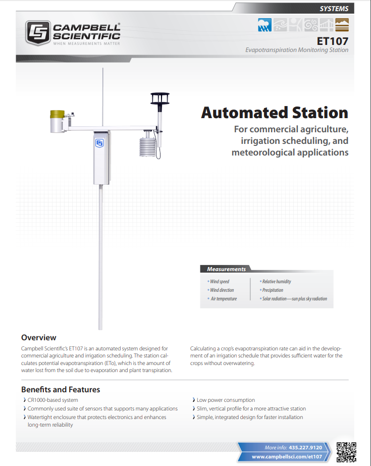 campbell scientific et107 evapotranspiration monitoring station