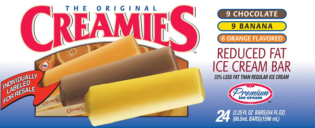 premium ice cream creamies ice cream novelty bars