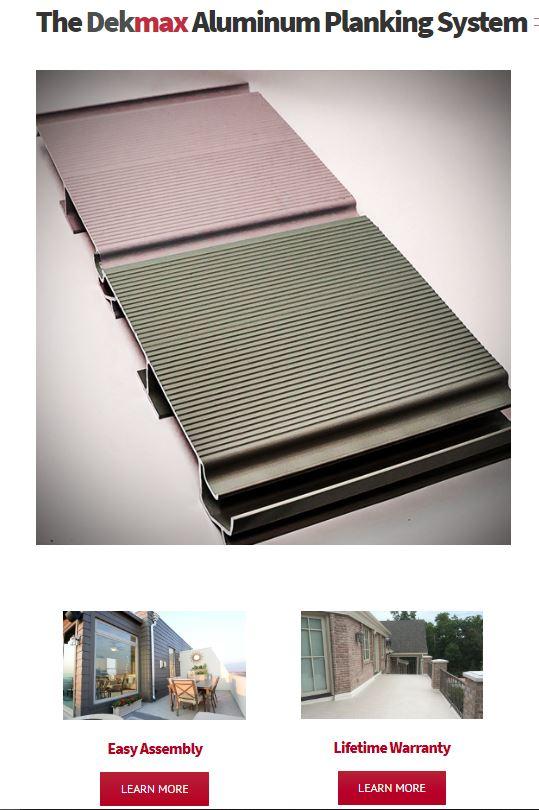 dekmax aluminum planking