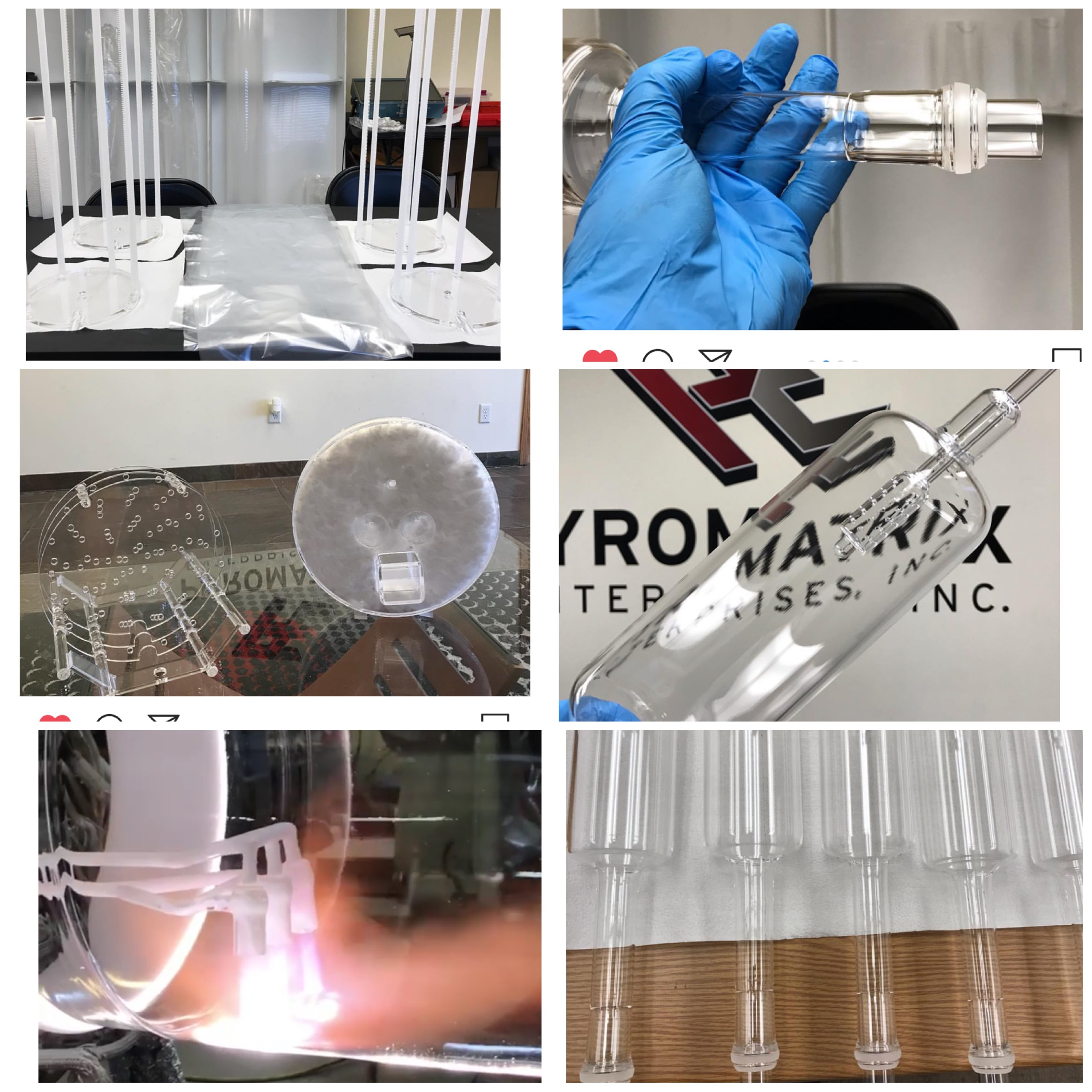 pyromatrix enterprises inc quartz glass products for semiconductor industry
