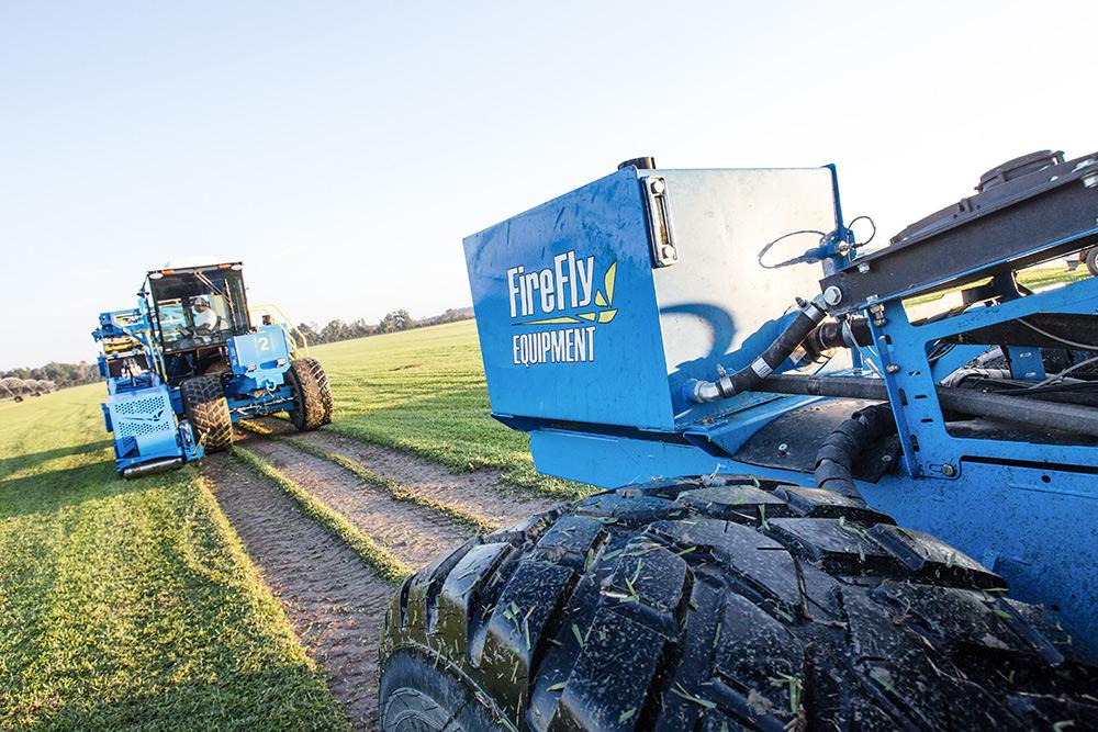 firefly equipment automated sod harvesting machine