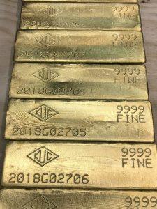 rio tinto kennecott gold bar