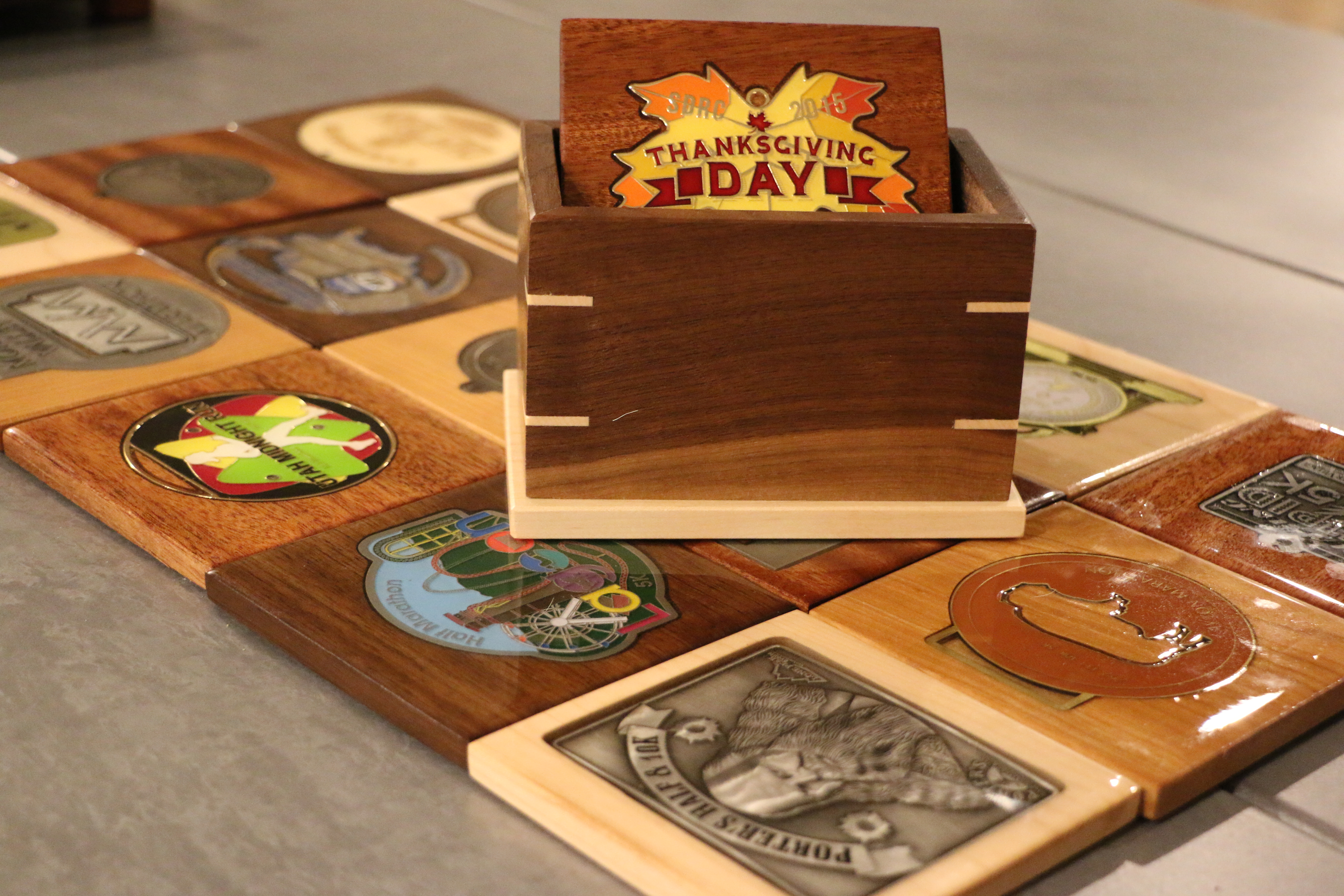 handcrafted coasters relive the race
