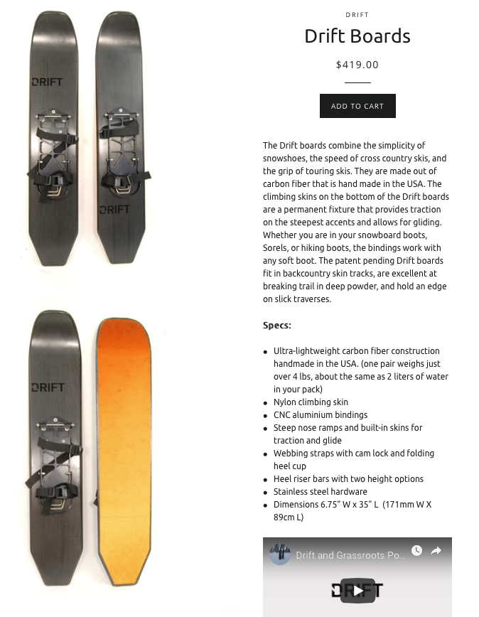 drift products drift board