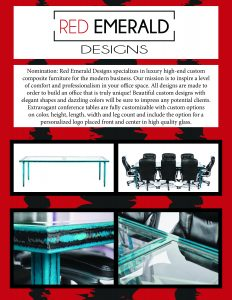 advanced composites inc red emerald designs conference table