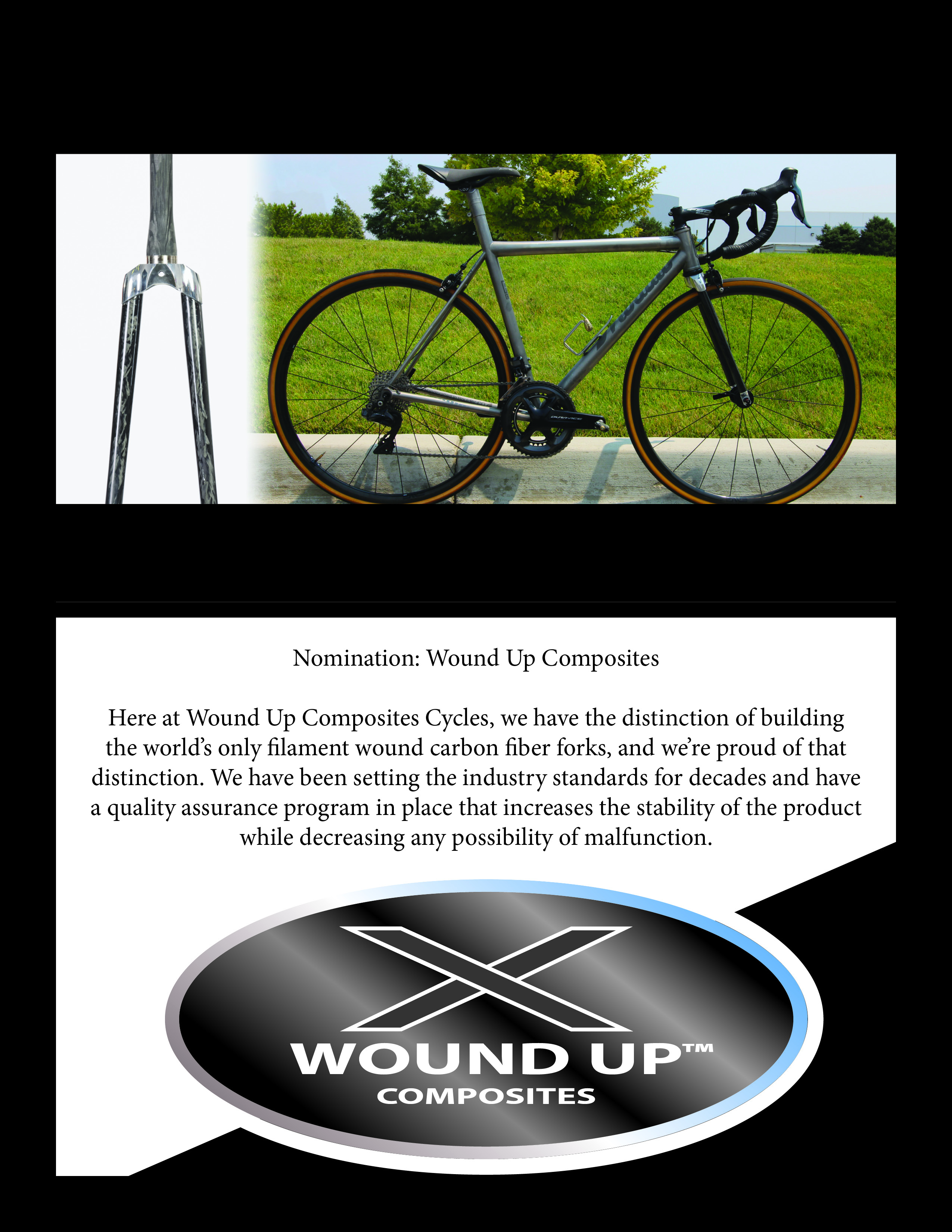 advanced composites inc wound up composites bicycle forks