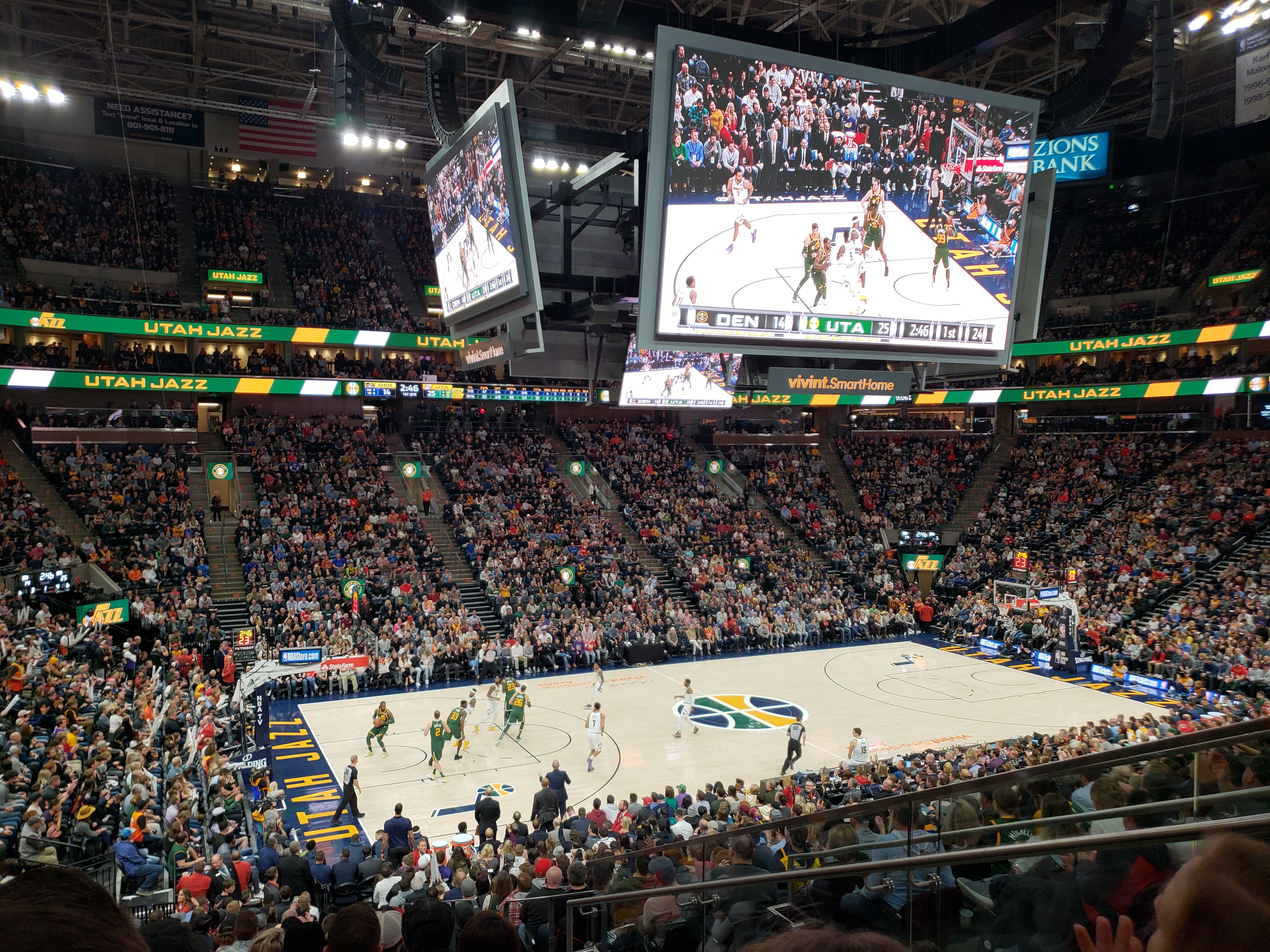 prismview a samsung electronics company digital signage at utah jazz arena vivint smart home arena