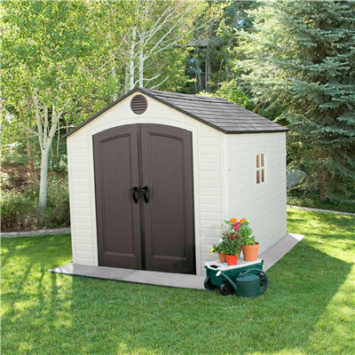 lifetime products 8ft x 10ft outdoor storage shed
