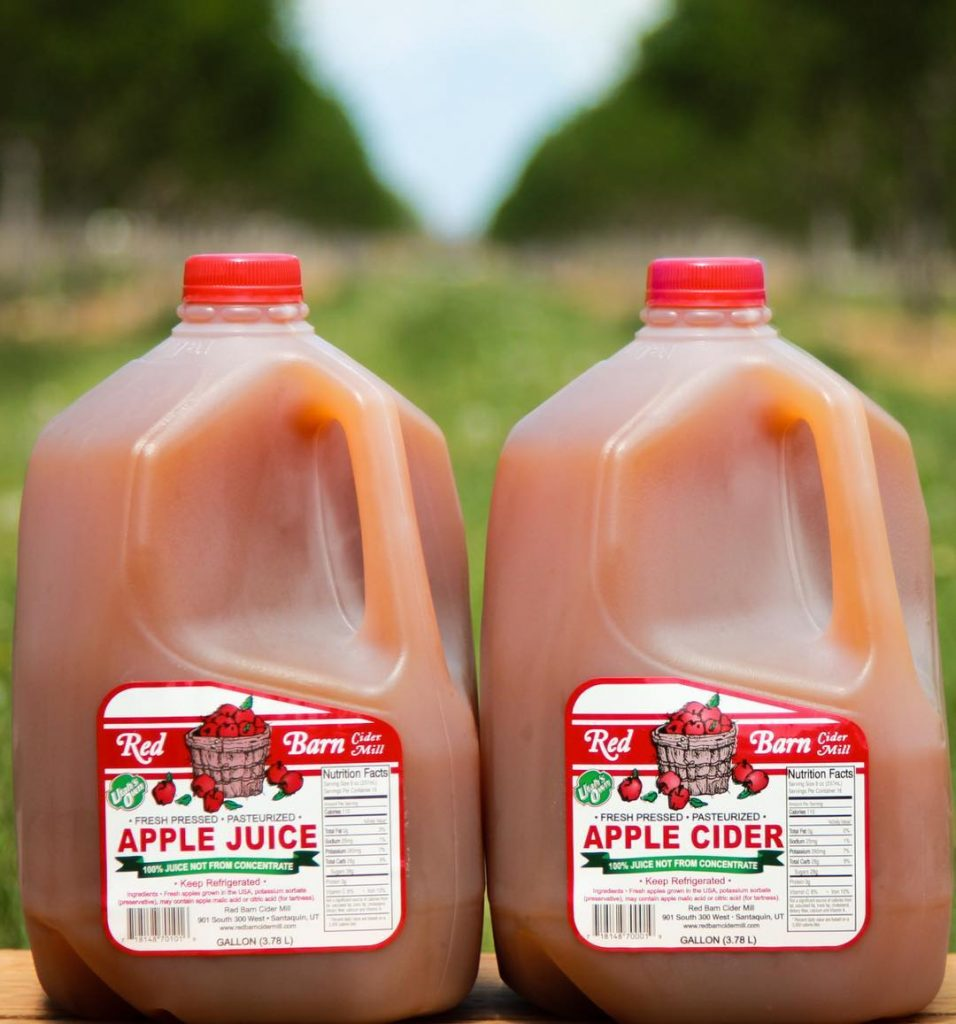 fresh pressed apple juice