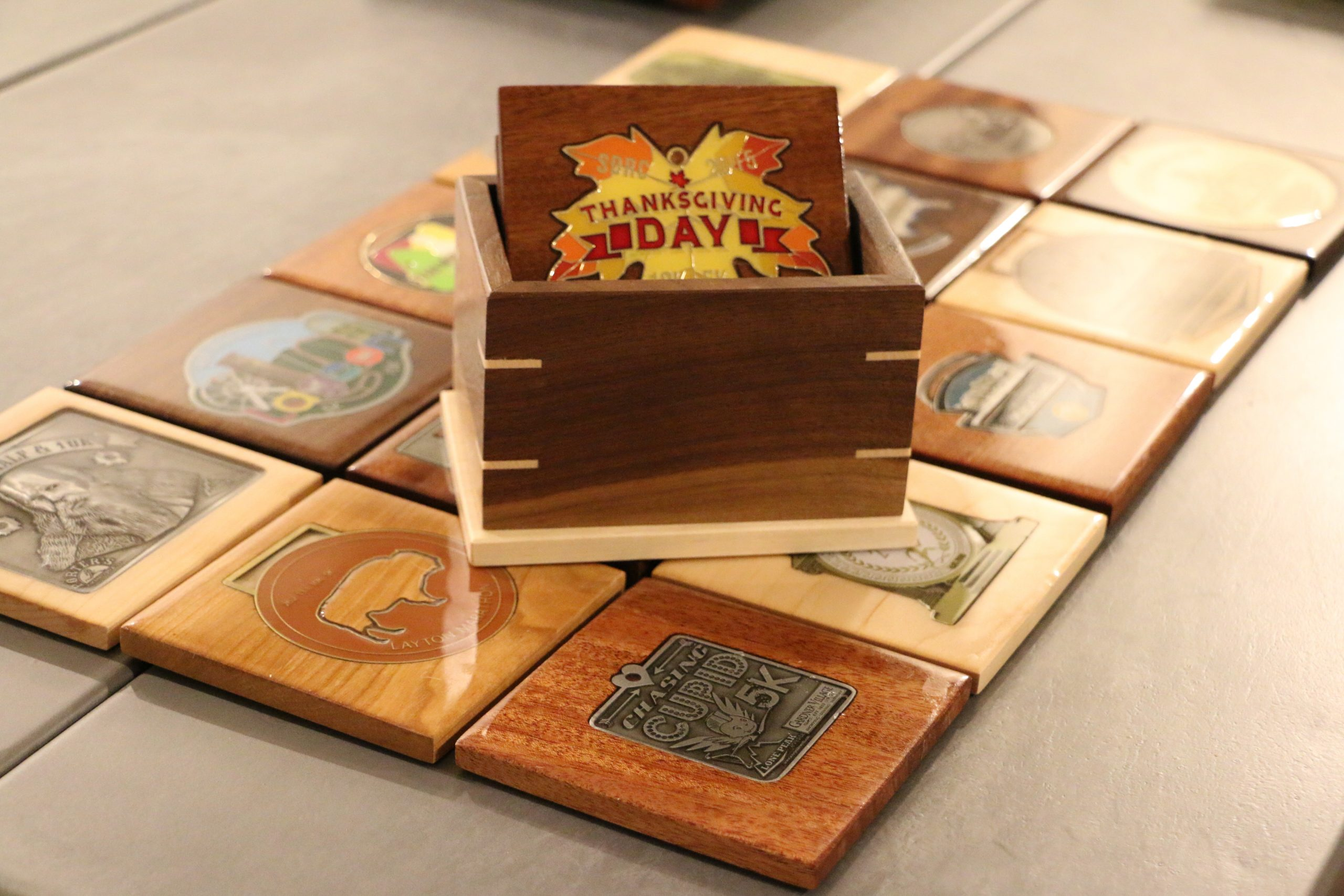 handcrafted medal coasters